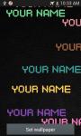 Name live wallpaper screenshot 2/6