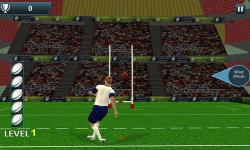Rugby Flick Kick Shoot 3D screenshot 2/6