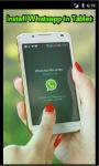 Install Whatsapp in Tablet screenshot 1/3