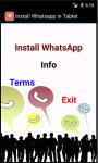 Install Whatsapp in Tablet screenshot 2/3