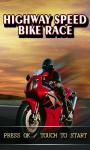 Highway speed bike race-Free screenshot 1/1
