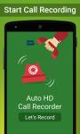 Auto Call HD Recorder screenshot 1/4