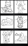 Cats coloring pages screenshot 3/4