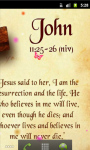 John Bible Quotes Live Wallpaper screenshot 1/5