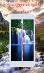 Waterfall Zipper Lock Screen screenshot 1/6