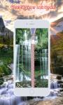Waterfall Zipper Lock Screen screenshot 3/6