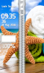 Seashells Zipper Lock Screen screenshot 4/6