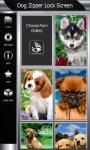 Dog Zipper Lock Screen screenshot 4/6