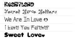 ★ Love for FlipFont® free screenshot 1/1