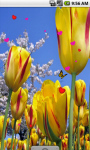 Lovely Yellow Flowers Live Wallpaper screenshot 1/4