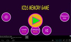 Fun Memory Games For Kids screenshot 1/4