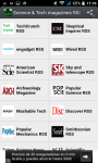 Science and Tech magazines RSS screenshot 1/3