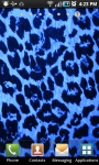 Blue Leopard Print Live Wallpaper screenshot 2/2