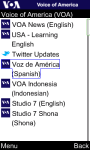 VOA Spanish for Java Phones screenshot 1/6
