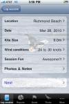 SessionLog: Kitesurf, Snowkite, Kiteboard screenshot 1/1