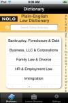 Nolo's Plain English Law Dictionary screenshot 1/1