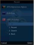 OANDA Currency Converter for J2ME screenshot 2/2