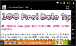 100 First Date Tips 2014 screenshot 3/3