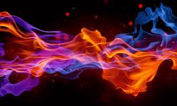 Blue Fire Wallpaper Free screenshot 4/6