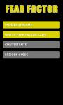 Fear Factor Fan App screenshot 1/3