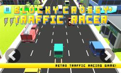 Blocky Crossy Traffic Racer screenshot 1/4