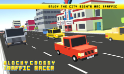 Blocky Crossy Traffic Racer screenshot 4/4