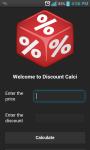 Discount calculations screenshot 1/2