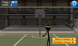 Basketball with Stickman screenshot 1/3