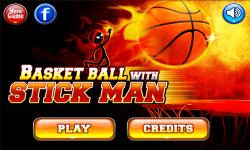 Basketball with Stickman screenshot 2/3