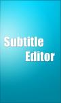 Subtitle Editor screenshot 1/2