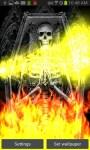 Skeleton Tomb On Flames LWP free screenshot 1/4