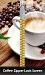 Coffee Zipper Lock Screen Free screenshot 1/6