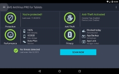 AntiVirus PRO Android Security primary screenshot 3/6