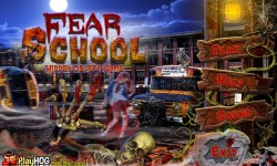 Free Hidden Object Games - Fear School screenshot 1/4