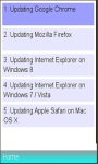 Update different browsers screenshot 1/1