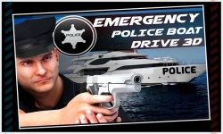 Emergency Police Boat Drive 3d screenshot 1/5