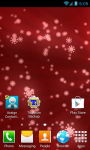 Snow Flake Red Live Wallpaper screenshot 2/3