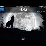 Full Moon Wolf Theme BalckBerry 9700 screenshot 1/4