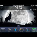 Full Moon Wolf Theme BalckBerry 9700 screenshot 2/4