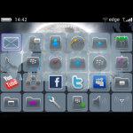 Full Moon Wolf Theme BalckBerry 9700 screenshot 3/4