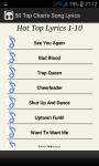 Top Charts Song Lyrics screenshot 3/5