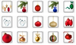 Christmas Ornament Onet Classic Game screenshot 2/2