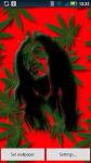 Bob Marley Falling Weed Live Wallpaper screenshot 2/4