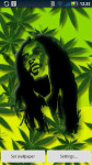 Bob Marley Falling Weed Live Wallpaper screenshot 3/4