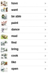ENGLISH - ITALIAN : translation of verbs with a... screenshot 1/1