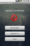 Maduzz Call Blocker screenshot 1/3