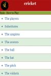 Rules to Play Cricket  screenshot 3/4