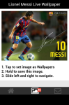 Lionel Messi Live Wallpaper Android screenshot 4/5