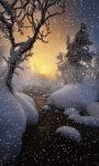 Evening Snow Live Wallpaper screenshot 1/3