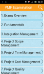 PMP Examination screenshot 1/3